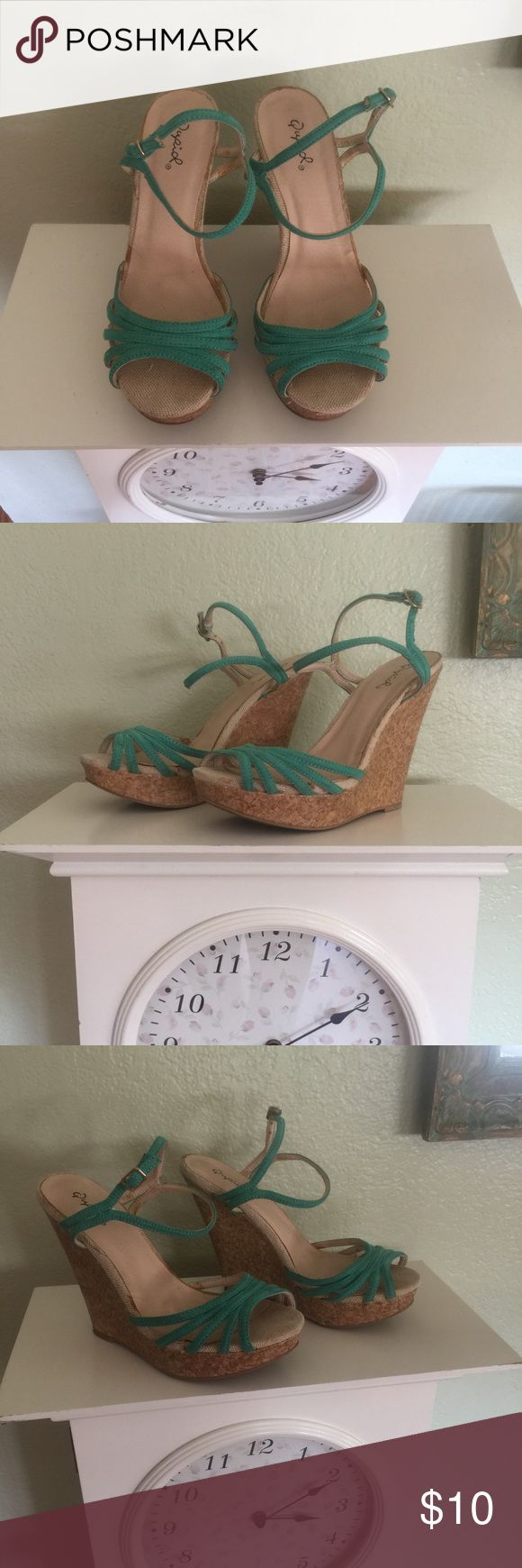Aqua/Teal wedges ✨ 🍍Cute wedges for the summer🏝 Shoes Wedges