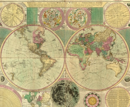 53 best maps images on pinterest old world maps antique maps antique world map by carington bowles circa 1780 postcard gumiabroncs Gallery