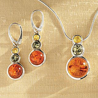 Tricolor Baltic Amber Earrings | National Geographic Store
