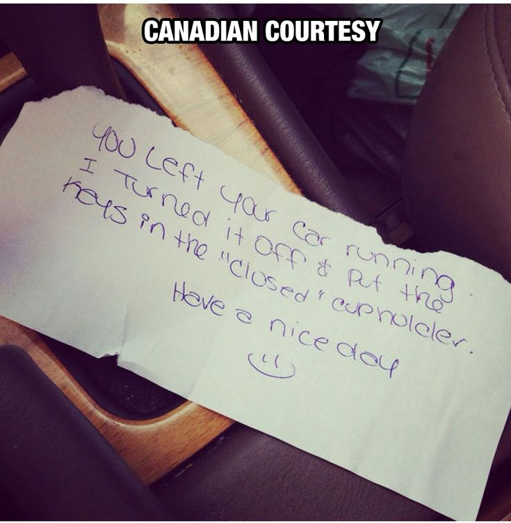 Canadian courtesy... Only in Canada eh? #humor #Canada #polite