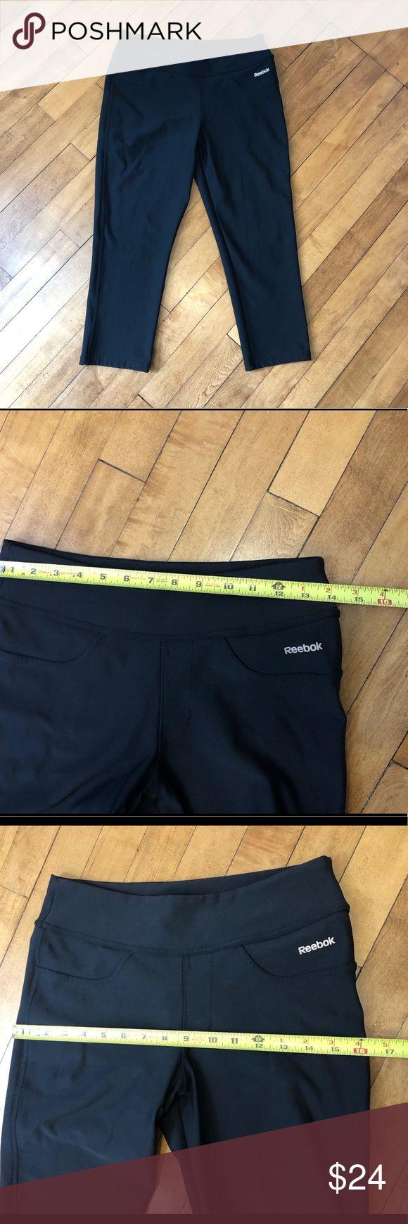Reebok EasyTone Black Capri workout Pants Sz Sm This Reebok fitnesspants for wom…