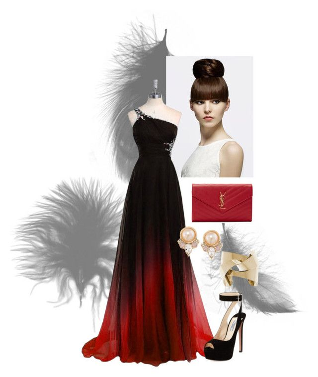 """Opera"" by painted1981 on Polyvore featuring Prada, Yves Saint Laurent and Carolee"