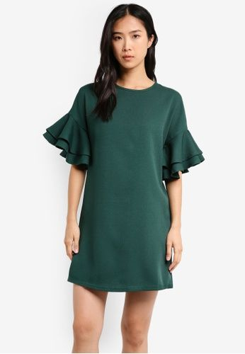95548cdb848e6 ZALORA Ruffle Sleeve Dress on ZALORA Singapore