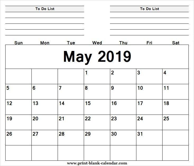 Editable Calendar May 2019 Sheet Printblank Pinterest Calendar