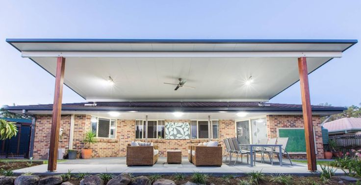 Trueline Elevated Insulated Patio Roof