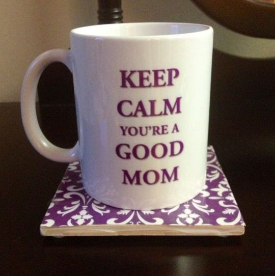 Keep Calm Mom Mug| a lovely gift for your mom on Mother's Day. Fill it with something made of chocolate, and you will truly let her know how awesome she is. - Foodista.com