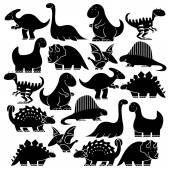 Conjunto de diferentes dibujos animados dinosaurios Ilustraciones De Stock Sin Royalties Gratis