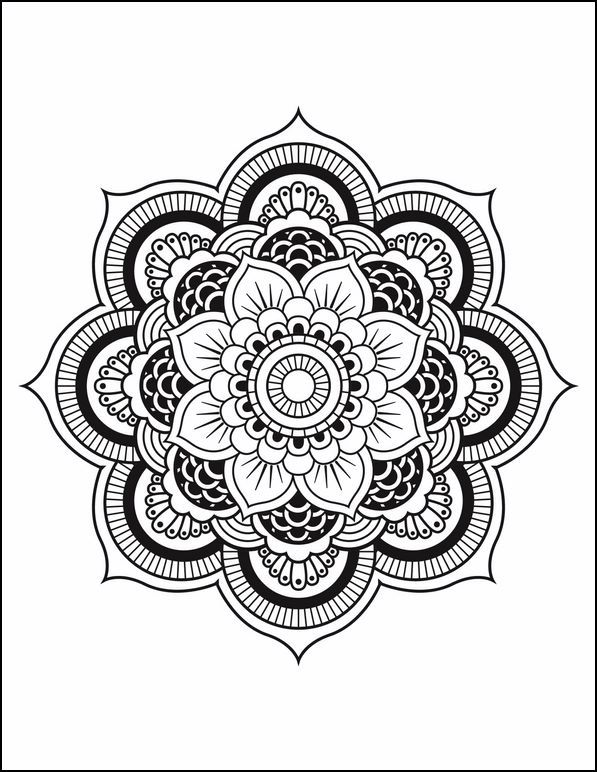 Ms de 25 ideas increbles sobre Mandala de flor en Pinterest