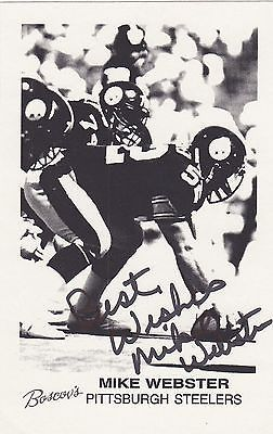 IRON MIKE WEBSTER STEELERS NFL FOOTBALL PLAYER AUTOGRAPH SIGNED PHOTO CARD PRINT