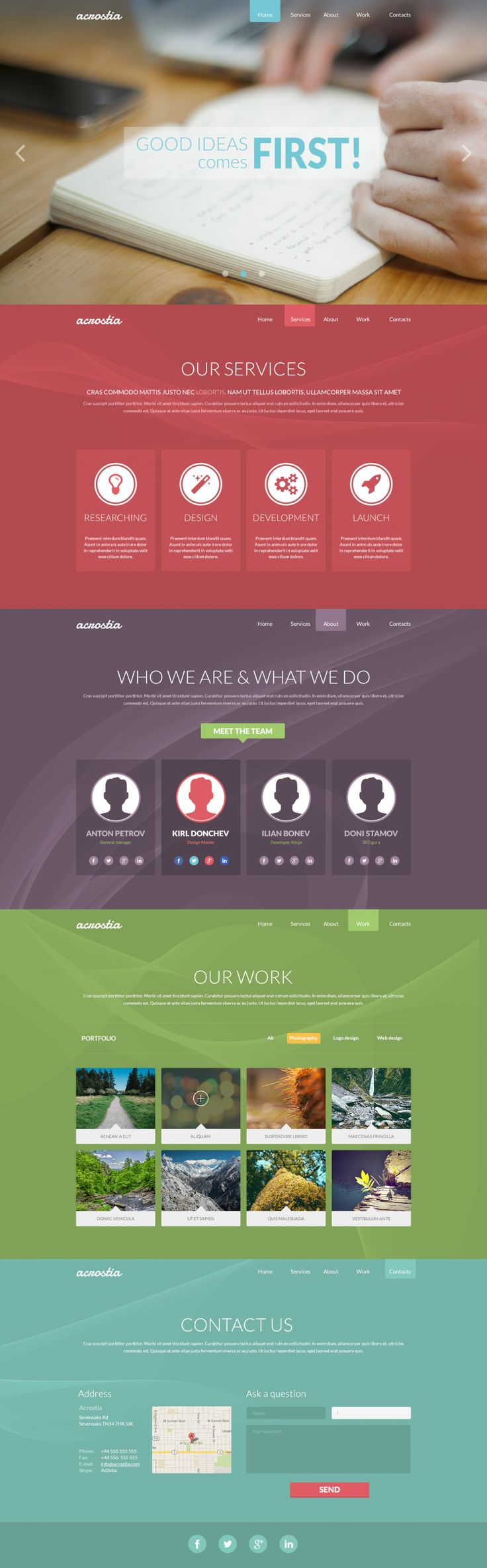 Acrostia - Free One Page Template, #Free, #Layout, #PSD, #Resource, #Single_Page, #Template, #Web #Design