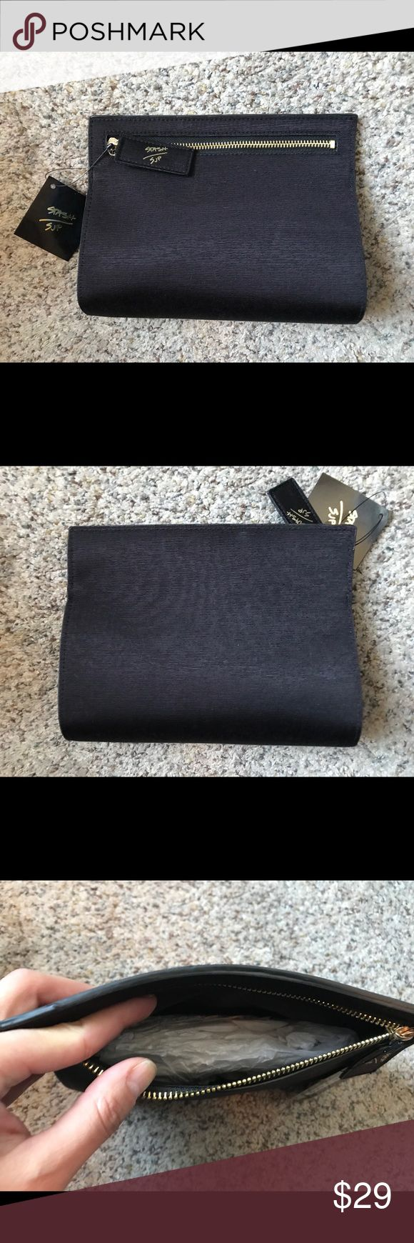 Black Sarah Jessica Parker Stash Clutch SJP Stash black clutch. No to big, not to small. Perfect for an evening, fancy or casual. Brand new needing a new home for some loving. height – 7 inches length – 8 inches width –  1.75 inches SJP Sarah Jessica Parker Bags Clutches & Wristlets
