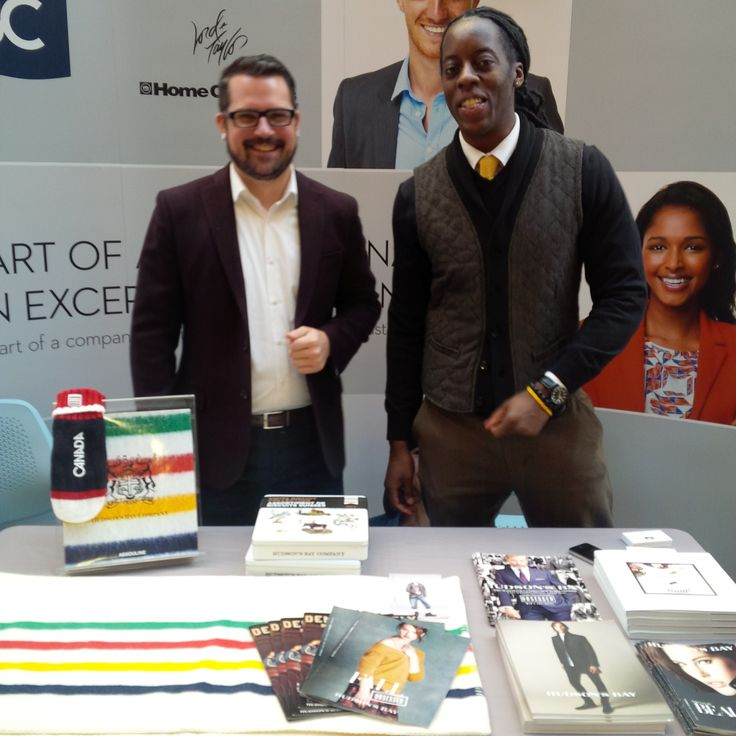 Hudson's Bay Sales Managers visit the University of Alberta for Retail Week.