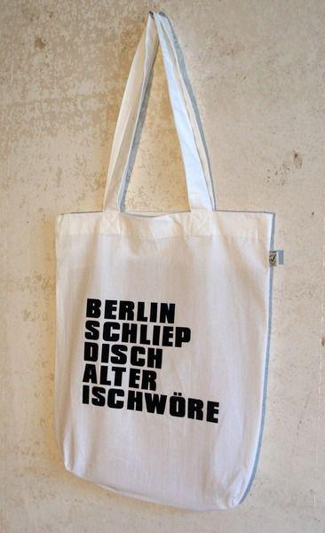 "Jutebeutel ""Berlin schliepdisch"" // tote bag with print by Lololand via DaWanda.com"