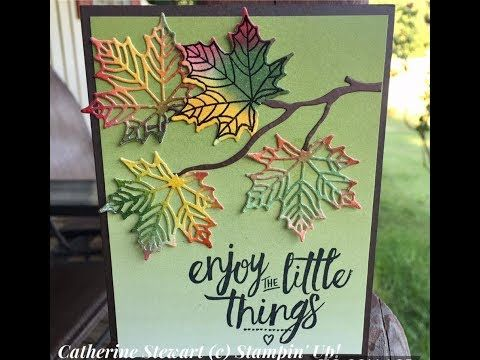 How to make fall leaves with Seasonal Thinlits - YouTube