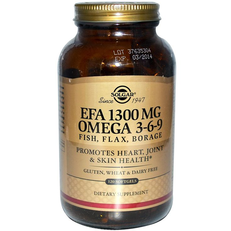 Solgar, EFA, Omega 3-6-9, 120 Softgels