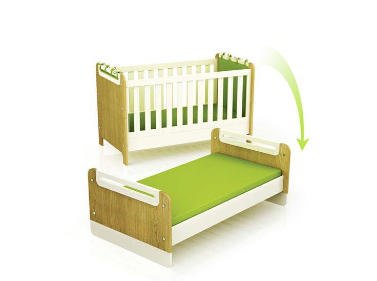 Łóżeczko dla dziecka, które przemienia się w tapczanik. Funkcjonalne i kreatywne bit.ly/1o6ByZ9