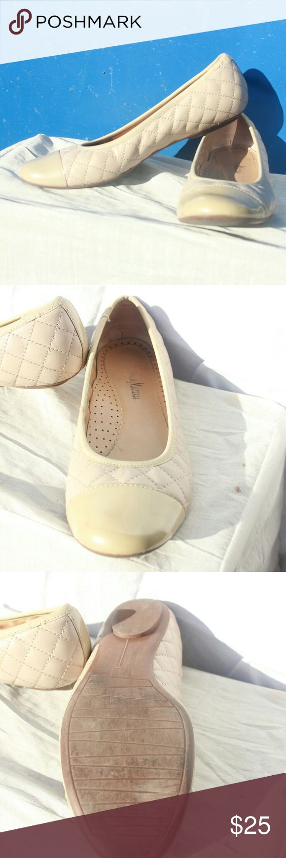 Neiman Marcus ballet Flats Great condition Patient leather Small heels Neiman Marcus Shoes Flats & Loafers