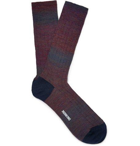 MissoniOmbré Wool-Blend Socks