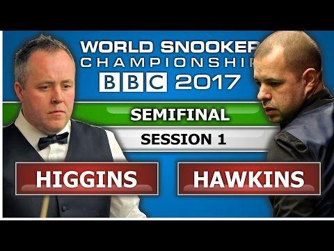 John Higgins v Barry Hawkins ᴴᴰ World Snooker Championship 2017 SF Session 1 - YouTube