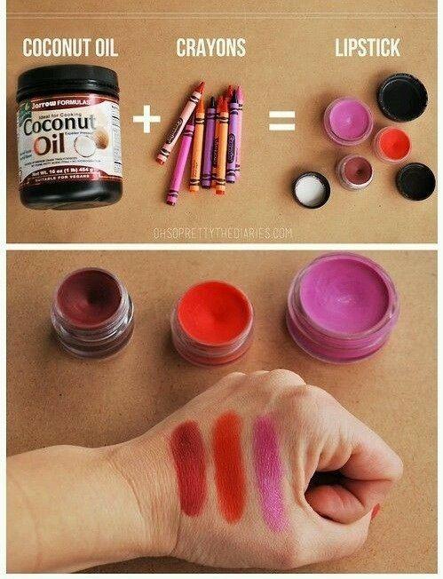 DIY. Lip balm. Crayons