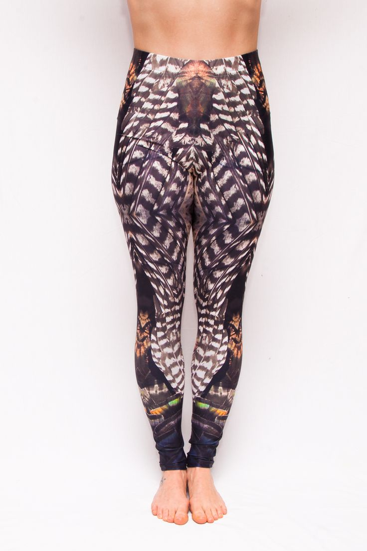 """""""Turkish Delight"""" Turkey Feather Leggings - 70$ Free Shipping to Canada & USA Ethically Made in Canada."""