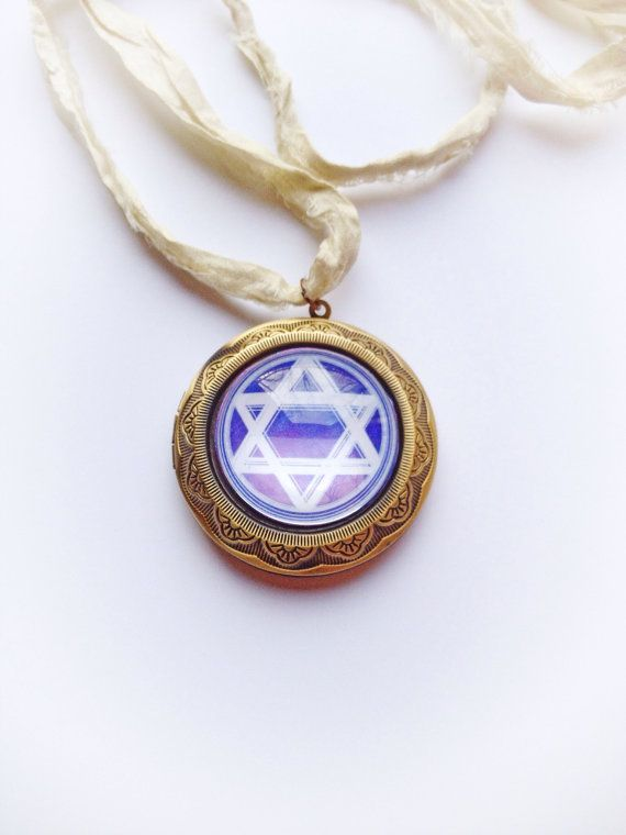 Star of David Necklace by InfinityNaturals on Etsy
