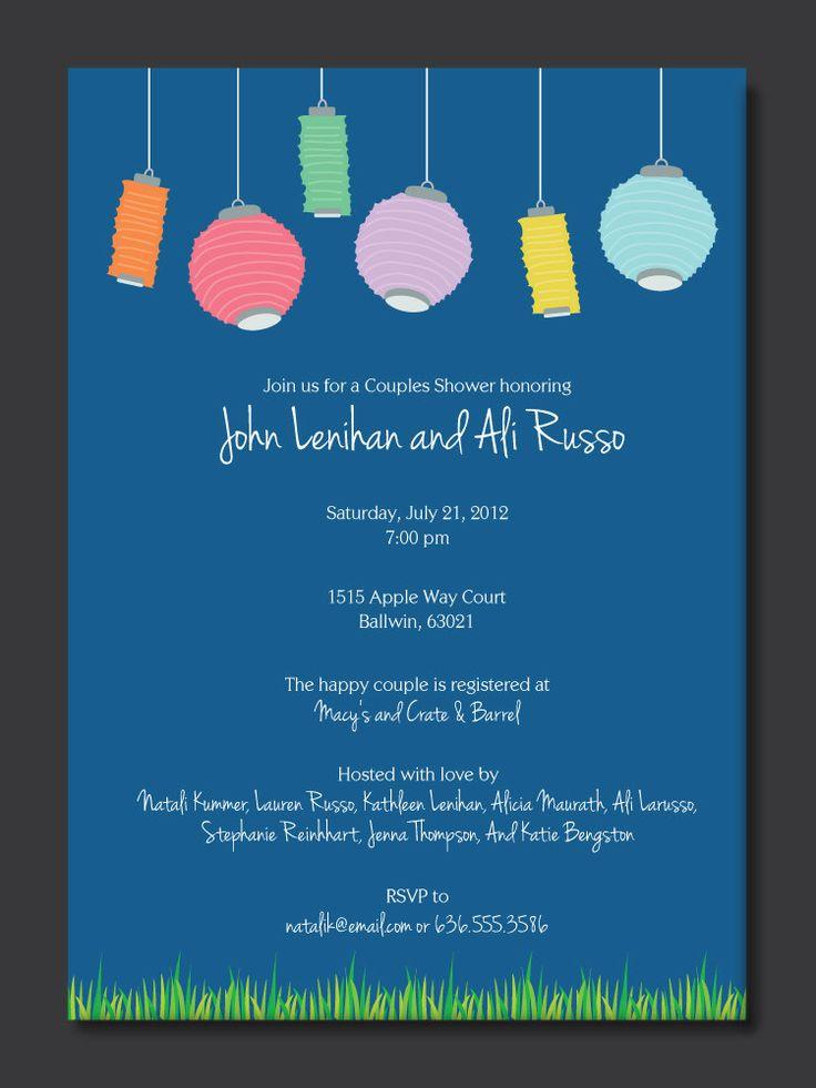 festive lanterns couples shower invitation by paperperfectionist - Lantern Wedding Invitations