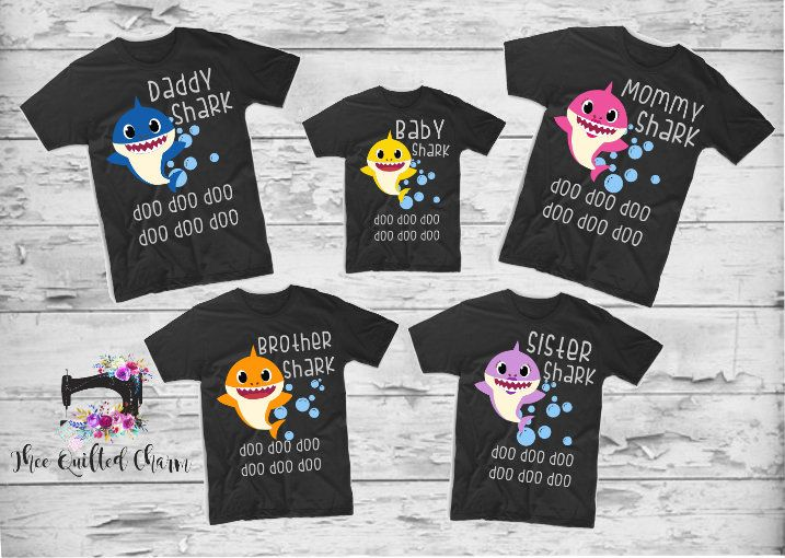 Baby Shark Birthday Party T-Shirt personalized with child Photo Name and Age