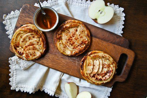 Apple Tarts with Goat Cheese and Honey | Craveworthy | Pinterest