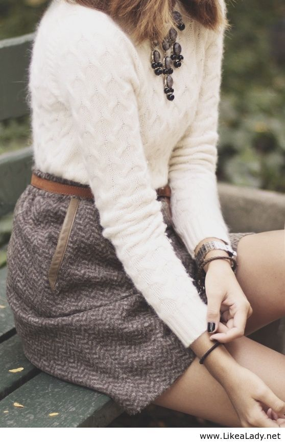 Sweet and sophisticated fall ensemble