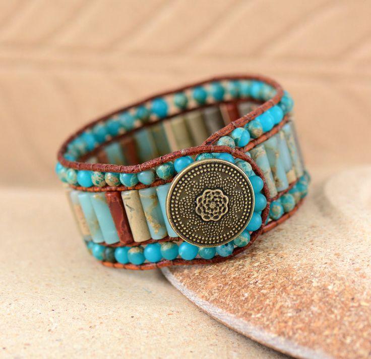 Cuff Bracelet   Natural Gemstone Bracelets   Handmade Bohemian Bracelet
