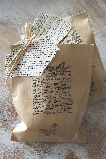 I like the idea of possibly stamping a letter onto the wrapping - kind of a greeting card - gift wrapping combination....  gift wrapping #gift #wrapping #giftwrapping