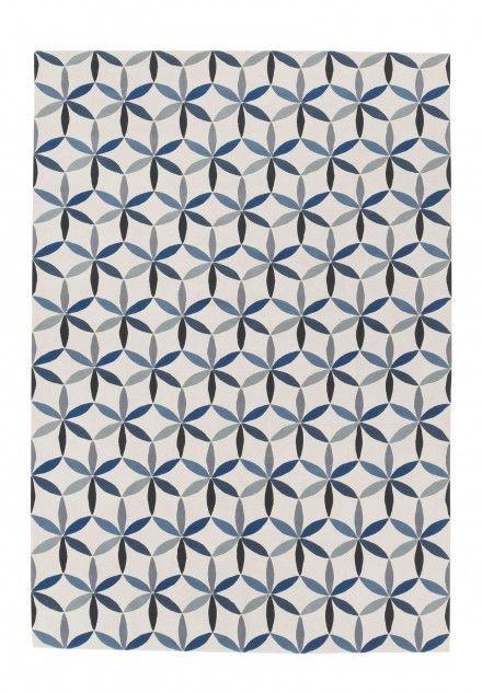 Starflower Blue by Edward Barber & Jay Osgerby | Lana Alfombras contemporáneas de diseñadores anudadas a mano