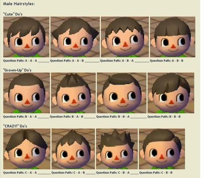 Galerry boy hairstyle acnl