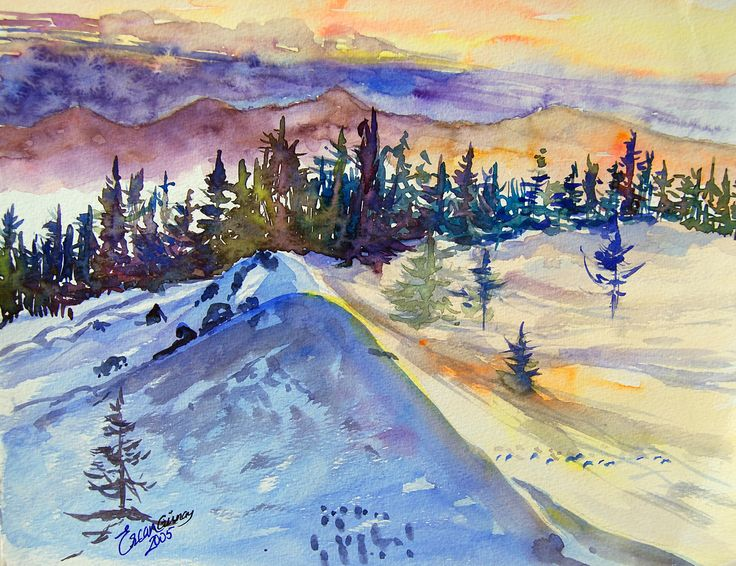 A winter view from Mt. Uludag-Bursa TURKEY 25cm x16cm Ercan GUNAY