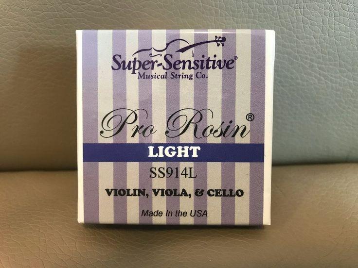 USA Super-Sensitive Pro Rosin, 914L Light, for Violin, Viola, and Cello #SuperSensitive