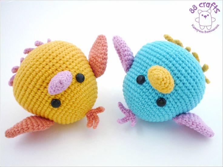 """crochet toy / Chubby birds designed by Katerina Vet as """"88 crafts"""""""