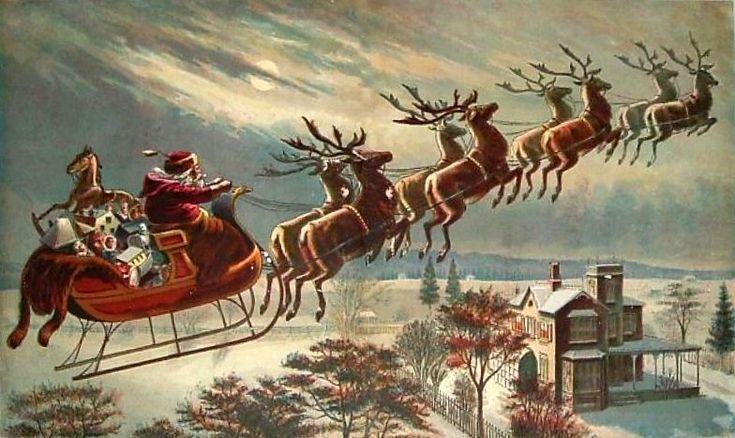 Santa and his Reindeer!