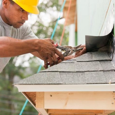 Flashing, which covers roof joints to prevent water from seeping in, comes in pre-formed pieces that can be simply applied using caulking or roof cement.
