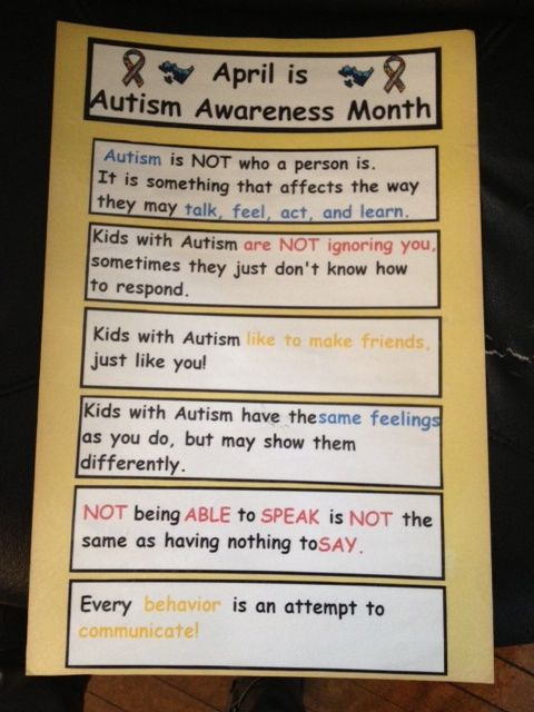 Autism Awareness Month Poster Freebie!