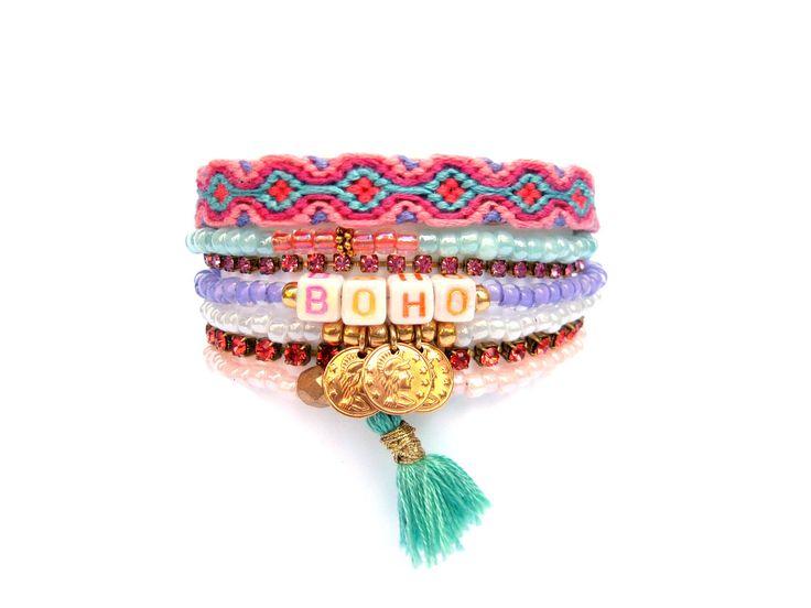 """Multi Strand Beaded Bracelet - """"""""BOHO"""""""""""