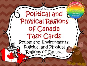 Looking for a great way to review or assess the grade 4 Ontario social studies unit People and Environments: Political and Physical Regions of Canada? Check out these task cards! These 20 task cards cover a range of curriculum expectations and content information (definitions of key terms [commerce, industry, tundra, prairie, natural resources], the physical and political regions of Canada, land use, recreation and employment opportunities, and environmental impact of various industries).