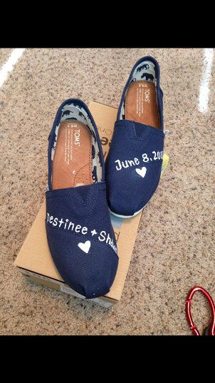 Customized Couple Hand-Painted Toms by Toriapie on Etsy https://www.etsy.com/listing/251370760/customized-couple-hand-painted-toms