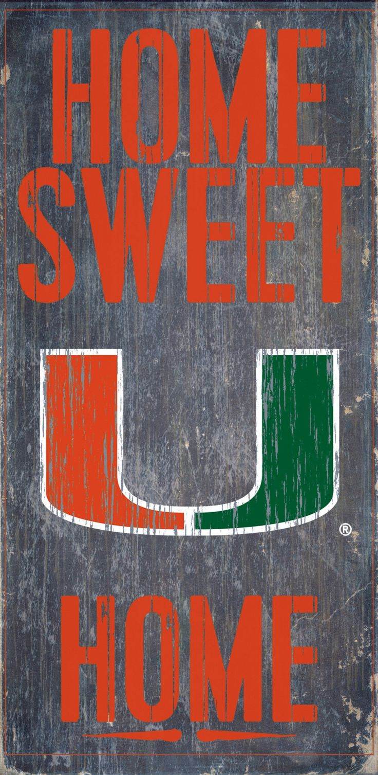 """Is your home a Miami Football Home? Then you need this sign. This Miami sign is perfect for displaying around the home. It includes a piece of rope attached to the back for hanging. The sign is 6""""x12"""""""
