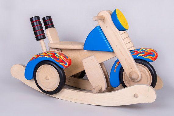 Wooden Rocking Motorcycle