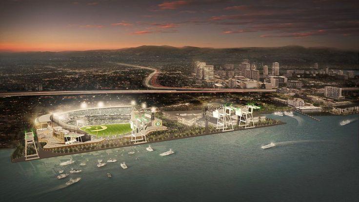 New Oakland A's Ballpark at Howard Terminal.