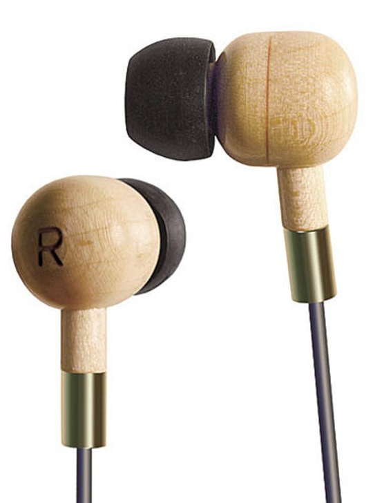 Wooden earbuds