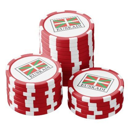 Euskadi Poker Chips Set - home gifts ideas decor special unique custom individual customized individualized