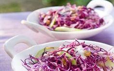 Receita de Salada de repolho roxo com maçã verde e uva passa - iG