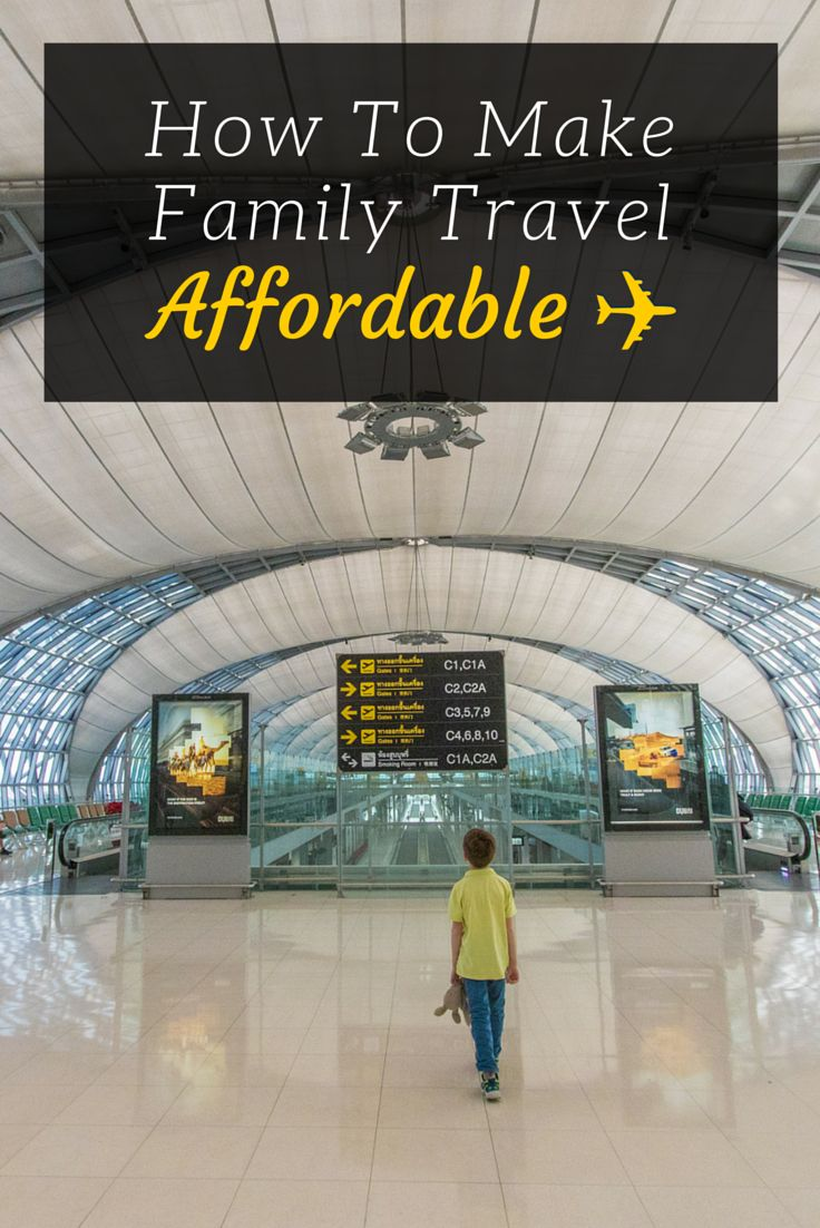 How To Make Family Travel Affordable. From personal experience, I can tell you that the best tip in this list is how we afford travel with our family of five (soon to be six). Cut out expensive car payments, cable, and other unnecessary habits and you can afford to travel. We are enlisted military, and we make it happen debt-free. You can, too!